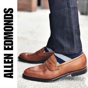 Allen Edmonds Brown Penny Loafers Shoes SZ 10